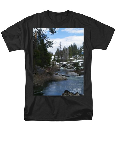 Men's T-Shirt  (Regular Fit) featuring the photograph Blue Skies Of Winter by Bobbee Rickard