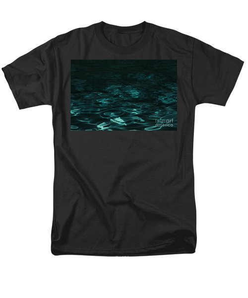 Men's T-Shirt  (Regular Fit) featuring the photograph Blue Swirl One by Chris Thomas
