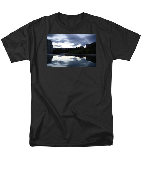 Men's T-Shirt  (Regular Fit) featuring the photograph Blue Visions 1 by Teo SITCHET-KANDA