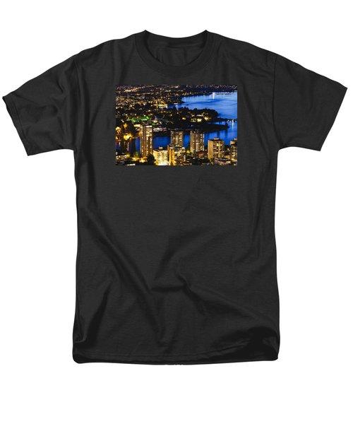 Men's T-Shirt  (Regular Fit) featuring the photograph Blue Water Kitsilano Beach Mcdix by Amyn Nasser