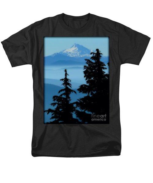 Blue Yonder Mountain Men's T-Shirt  (Regular Fit) by Susan Garren