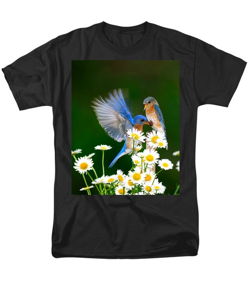 Bluebirds And Daisies Men's T-Shirt  (Regular Fit) by Randall Branham
