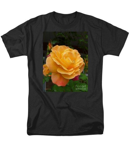 Men's T-Shirt  (Regular Fit) featuring the photograph Blushing Rosalina by Lingfai Leung