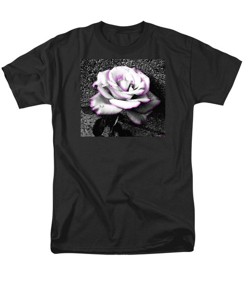 Men's T-Shirt  (Regular Fit) featuring the photograph Blushing White Rose by Shawna Rowe