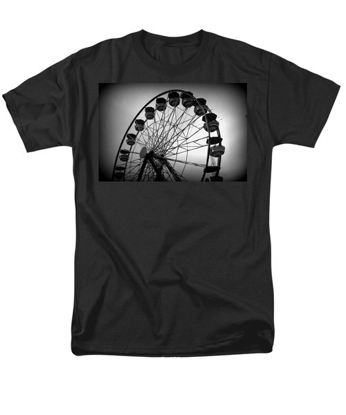 Men's T-Shirt  (Regular Fit) featuring the photograph Boardwalk Beauty by Laurie Perry