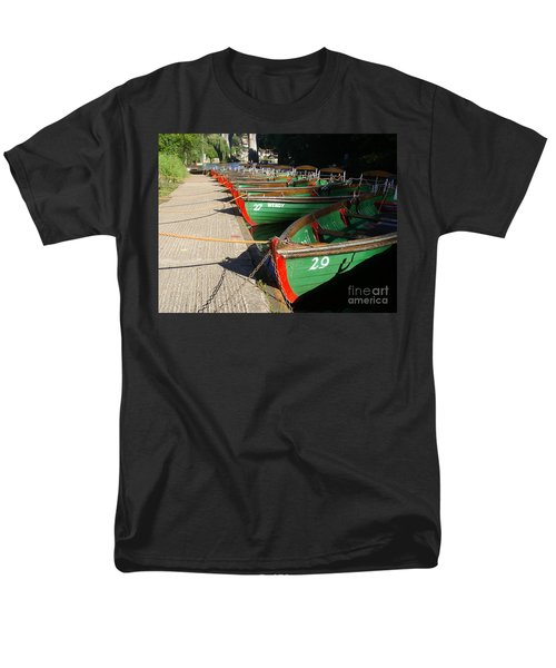 Men's T-Shirt  (Regular Fit) featuring the photograph Boats Waiting For Kids by Doc Braham