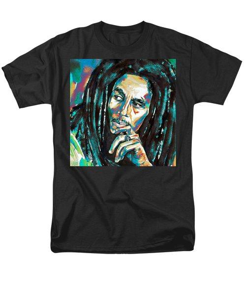 Bob Marley Watercolor Portrait.7 Men's T-Shirt  (Regular Fit)