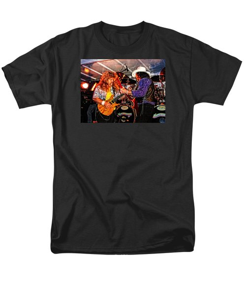Men's T-Shirt  (Regular Fit) featuring the photograph Bobby And Russ Jammin' by Mike Martin