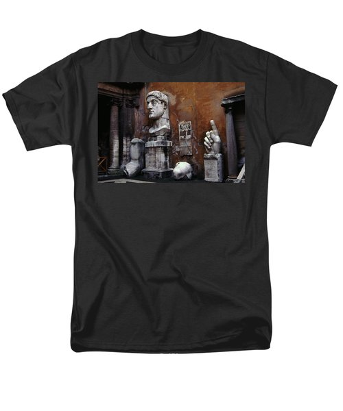 Men's T-Shirt  (Regular Fit) featuring the photograph Body Parts The Colossus Of Constantine Rome by Tom Wurl