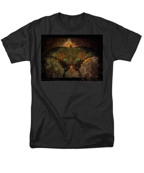 Men's T-Shirt  (Regular Fit) featuring the digital art Bohemia Butterfly - Art Nouveau by Absinthe Art By Michelle LeAnn Scott