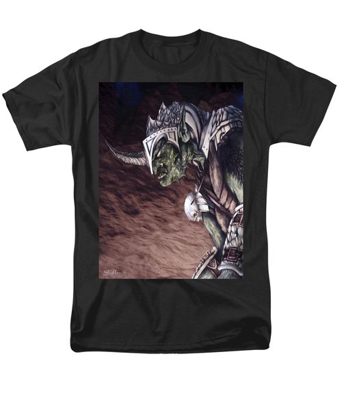 Men's T-Shirt  (Regular Fit) featuring the mixed media Bolg The Goblin King 2 by Curtiss Shaffer