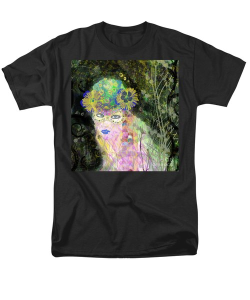 Men's T-Shirt  (Regular Fit) featuring the mixed media Bonnie Blue by Kim Prowse