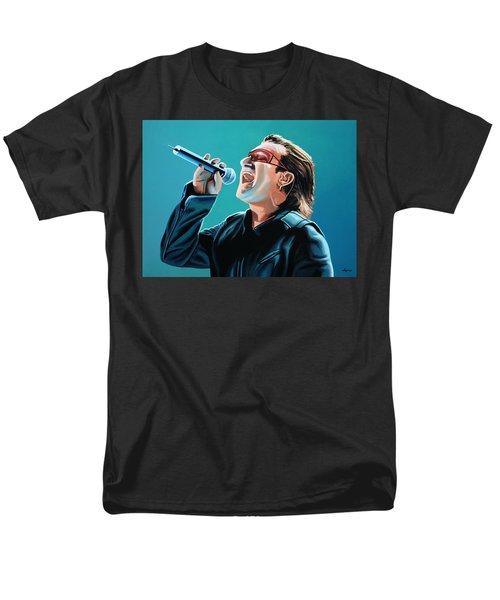 Bono Of U2 Painting Men's T-Shirt  (Regular Fit)
