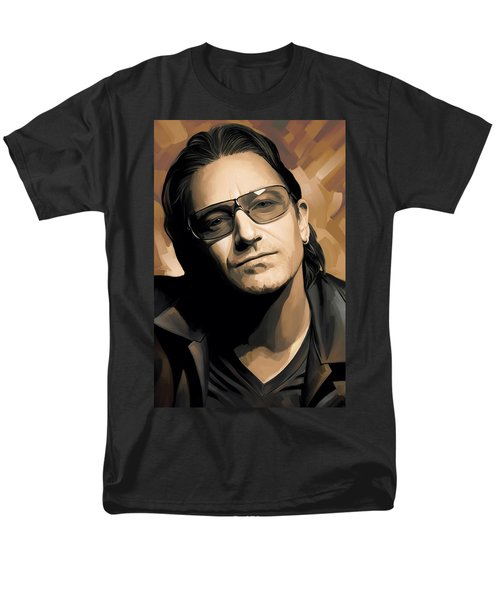 Bono U2 Artwork 2 Men's T-Shirt  (Regular Fit) by Sheraz A