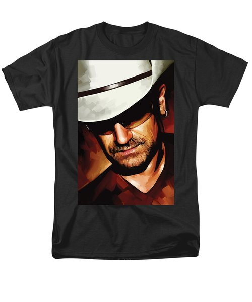 Bono U2 Artwork 3 Men's T-Shirt  (Regular Fit) by Sheraz A