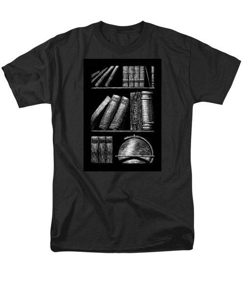 Books On Shelves Men's T-Shirt  (Regular Fit) by Jim Harris