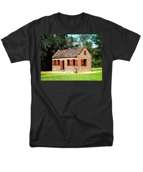 Men's T-Shirt  (Regular Fit) featuring the photograph Boone Hall Plantation Slave Quarters by Greg Simmons