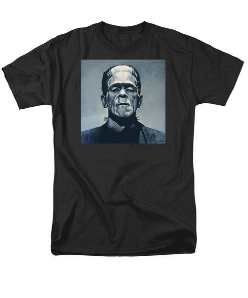 Boris Karloff As Frankenstein  Men's T-Shirt  (Regular Fit) by Paul Meijering
