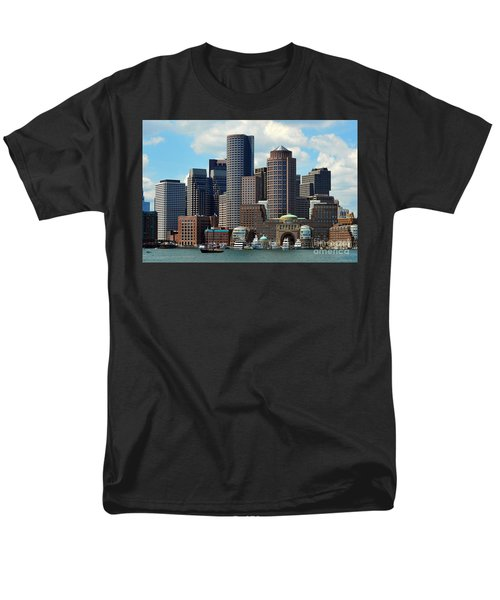 Men's T-Shirt  (Regular Fit) featuring the photograph Boston Skyline by Randi Grace Nilsberg