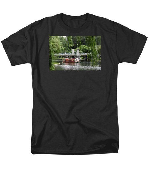 Boston Swan Boat Men's T-Shirt  (Regular Fit) by Christiane Schulze Art And Photography