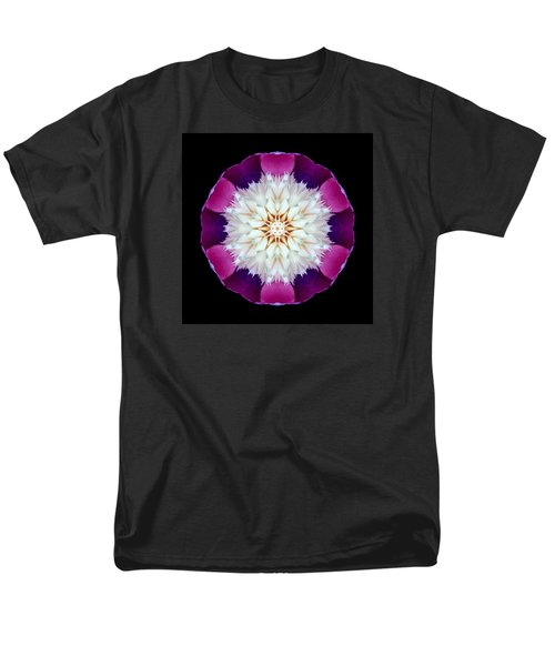 Bowl Of Beauty Peony II Flower Mandala Men's T-Shirt  (Regular Fit)
