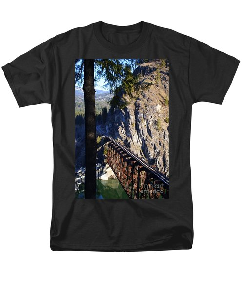 Box Canyon Dam Railroad Crossing Men's T-Shirt  (Regular Fit) by Loni Collins