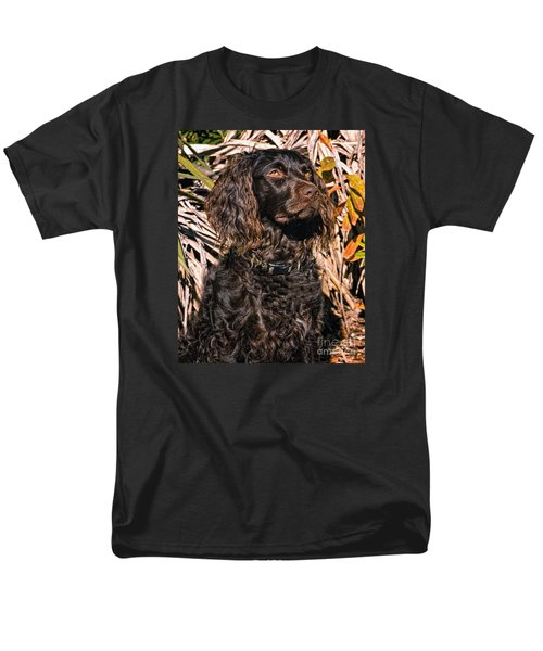 Boykin Spaniel Portrait Men's T-Shirt  (Regular Fit) by Timothy Flanigan