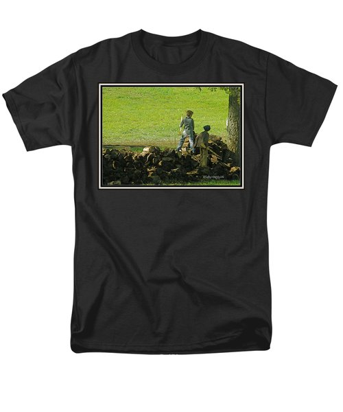 Men's T-Shirt  (Regular Fit) featuring the photograph Boys Will Be Boys by Kathy Barney