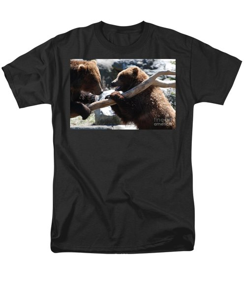 Brawling Bears Men's T-Shirt  (Regular Fit) by DejaVu Designs