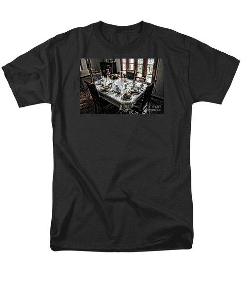 Downton Abbey Breakfast Men's T-Shirt  (Regular Fit) by The Art of Alice Terrill
