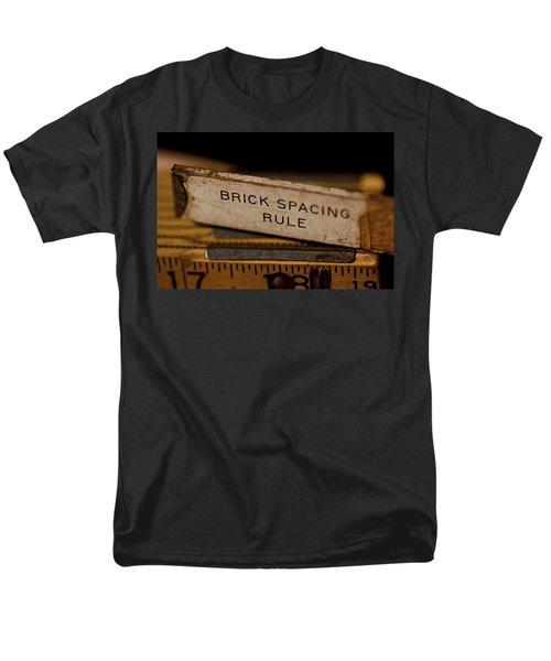 Brick Mason's Rule Men's T-Shirt  (Regular Fit) by Wilma  Birdwell