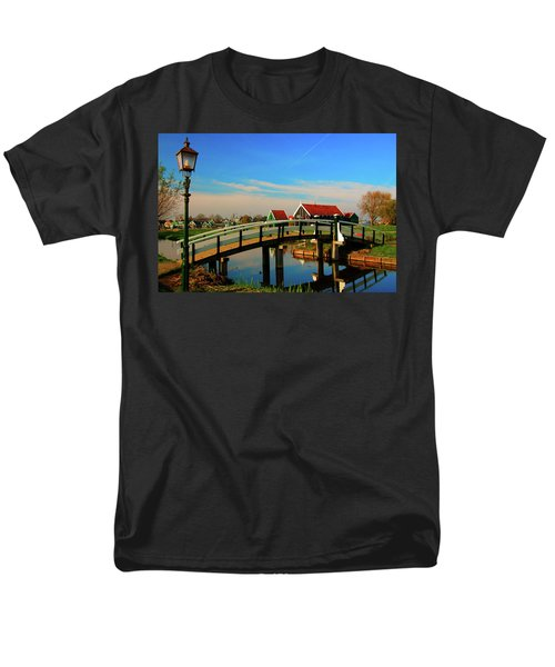 Bridge Over Calm Waters Men's T-Shirt  (Regular Fit) by Jonah  Anderson