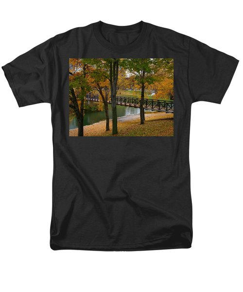 Men's T-Shirt  (Regular Fit) featuring the photograph Bridge To Fall by Elizabeth Winter