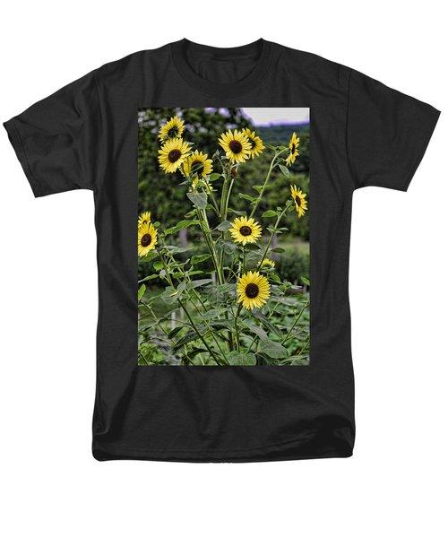 Bright Sunflowers Men's T-Shirt  (Regular Fit) by Denise Romano