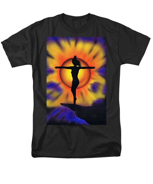 Men's T-Shirt  (Regular Fit) featuring the painting Bring Me Back To Life. by Kenneth Clarke