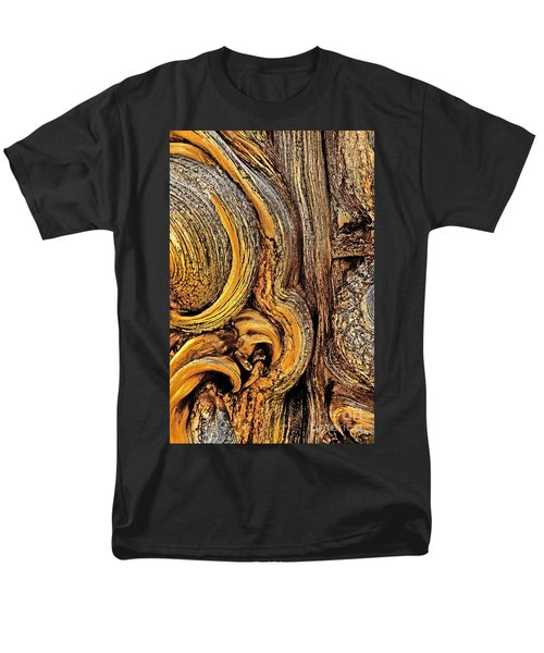 Men's T-Shirt  (Regular Fit) featuring the photograph Bristlecone Pine Bark Detail White Mountains Ca by Dave Welling