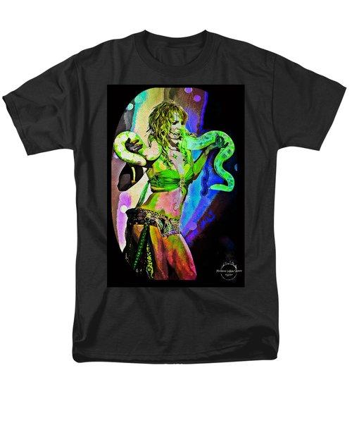 Britney Neon Dancer Men's T-Shirt  (Regular Fit) by Absinthe Art By Michelle LeAnn Scott
