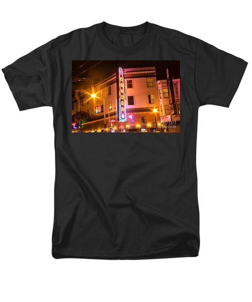 Broadway At Night Men's T-Shirt  (Regular Fit) by Suzanne Luft