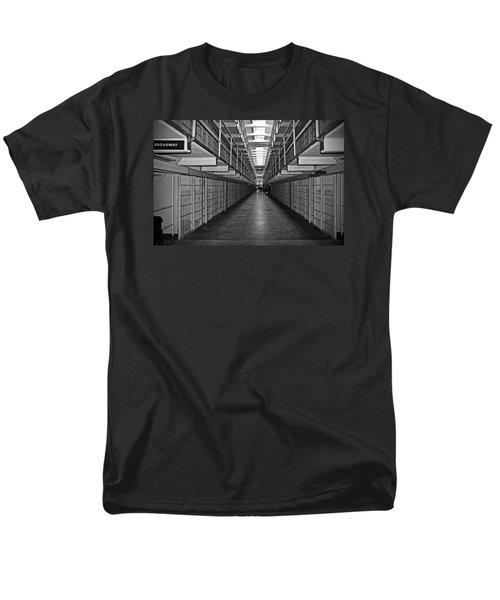 Broadway Walkway In Alcatraz Prison Men's T-Shirt  (Regular Fit) by RicardMN Photography