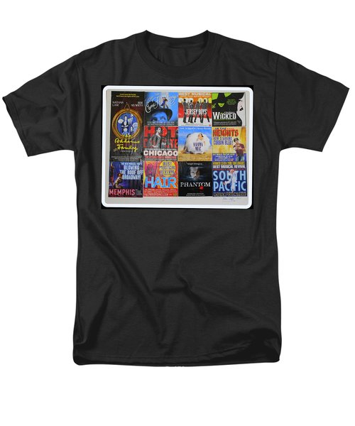 Broadway's Favorites Men's T-Shirt  (Regular Fit) by Dora Sofia Caputo Photographic Art and Design