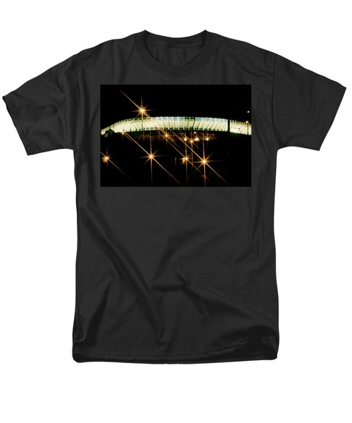 Men's T-Shirt  (Regular Fit) featuring the photograph Bronx Night  Iv Yankee Stadium by Iconic Images Art Gallery David Pucciarelli