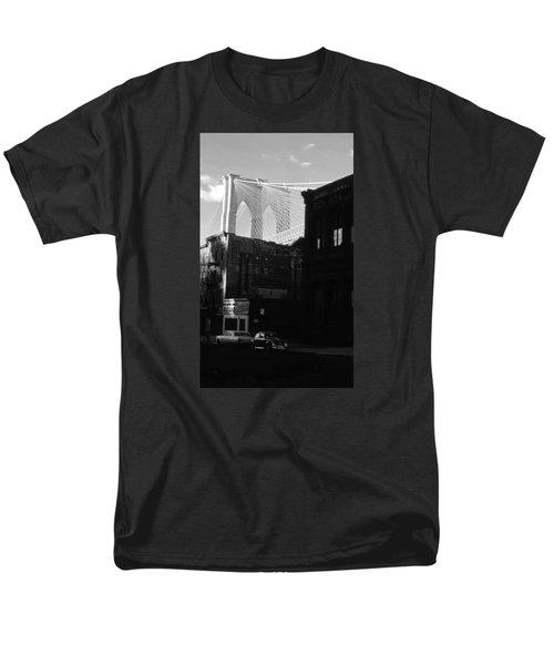 Men's T-Shirt  (Regular Fit) featuring the photograph Brooklyn Bridge 1970 by John Schneider