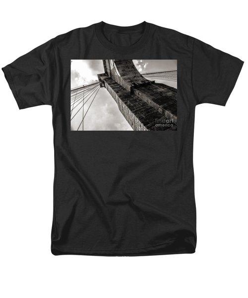 Men's T-Shirt  (Regular Fit) featuring the photograph Brooklyn Bridge by Angela DeFrias