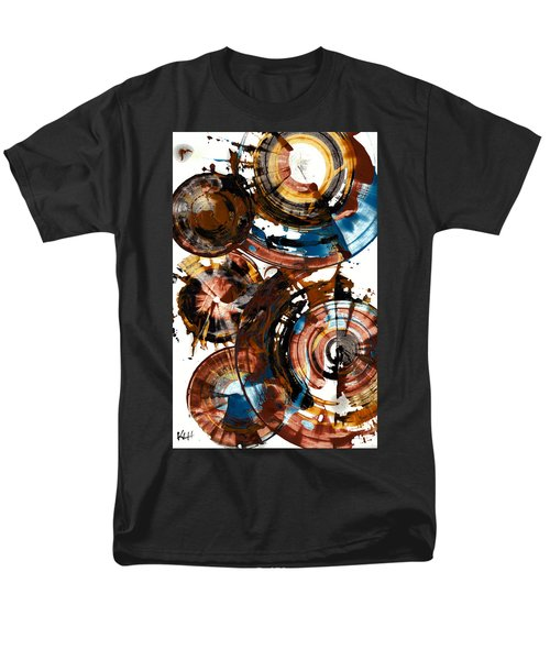 Men's T-Shirt  (Regular Fit) featuring the painting Brown And Blue Spherical Joy - 992.042212 by Kris Haas