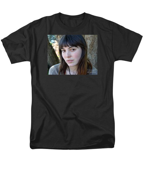 Men's T-Shirt  (Regular Fit) featuring the photograph Brown Haired And Freckle Faced Natural Beauty Model Xiv by Jim Fitzpatrick