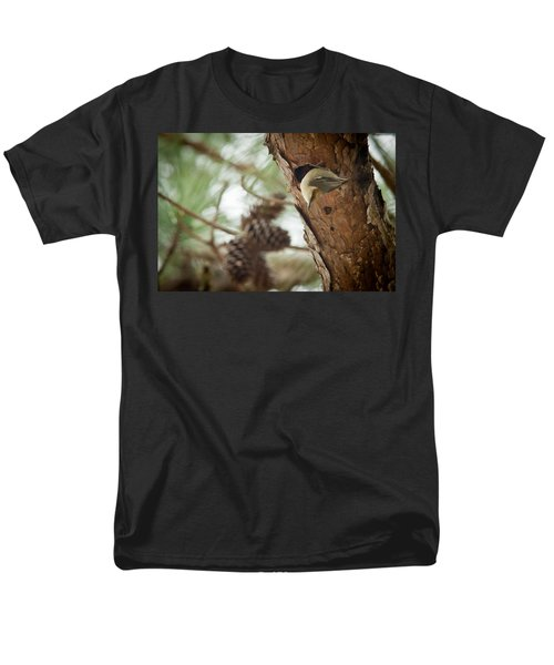 Brown Headed Nuthatch Men's T-Shirt  (Regular Fit) by Linda Unger