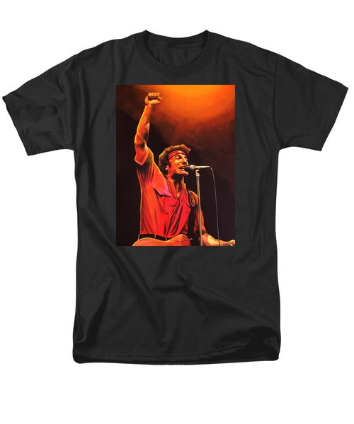 Bruce Springsteen Painting Men's T-Shirt  (Regular Fit) by Paul Meijering