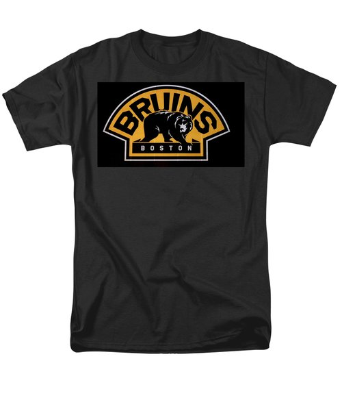Bruins In Boston Men's T-Shirt  (Regular Fit) by Caroline Stella