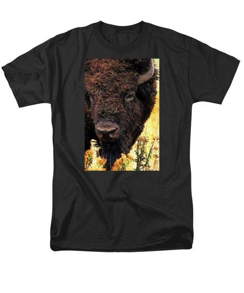 Ragweed Buffalo Men's T-Shirt  (Regular Fit) by Jim Pavelle