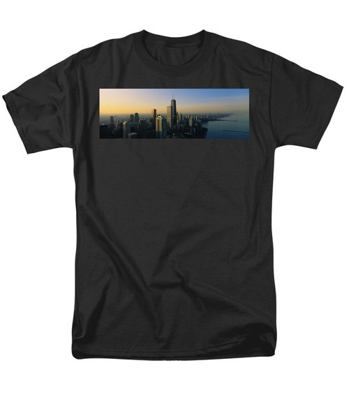 Buildings At The Waterfront, Chicago Men's T-Shirt  (Regular Fit) by Panoramic Images